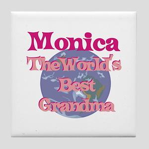 Monica - Best Grandma in the Tile Coaster