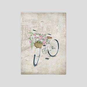 Vintage bicycles 5'x7'Area Rug