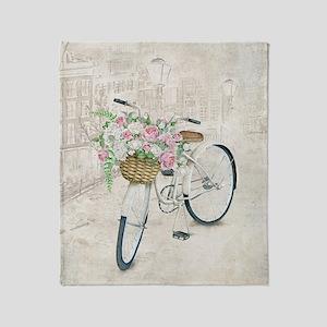 Vintage bicycles Throw Blanket
