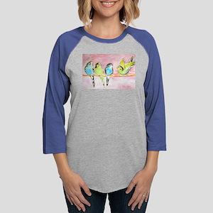 Parakeets Posturing Long Sleeve T-Shirt