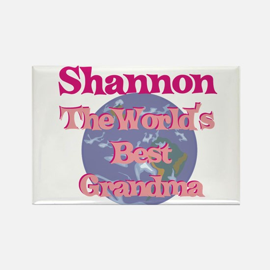 Shannon - Best Grandma in the Rectangle Magnet