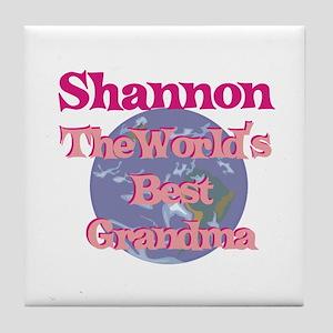 Shannon - Best Grandma in the Tile Coaster