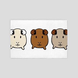 guinea pigs 4' x 6' Rug