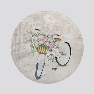 Vintage bicycles Round Ornament