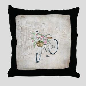 Vintage bicycles Throw Pillow