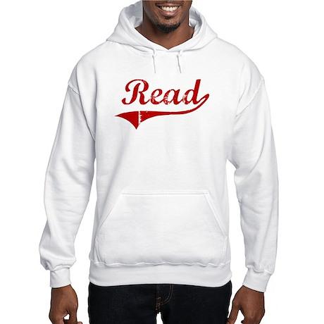 Read (red vintage) Hooded Sweatshirt