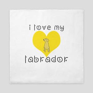 i love my labrador Queen Duvet