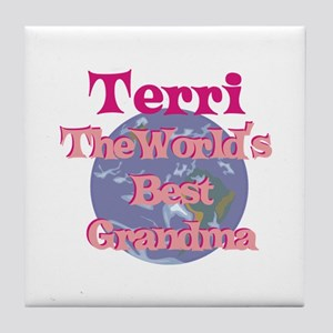 Terri - Best Grandma in the W Tile Coaster