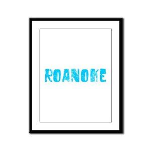 Roanoke Faded (Blue) Framed Panel Print