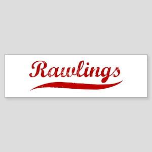 Rawlings (red vintage) Bumper Sticker