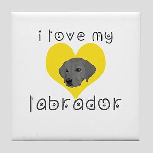 i love my labrador Tile Coaster
