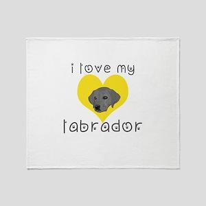 i love my labrador Throw Blanket