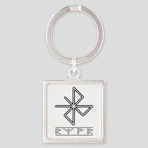 A Safe Joyful Journey Square Keychain