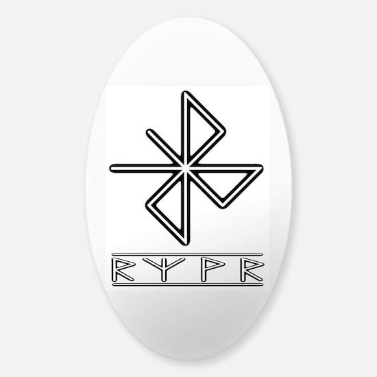 A Safe Joyful Journey Sticker (Oval)