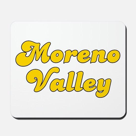Retro Moreno Valley (Gold) Mousepad