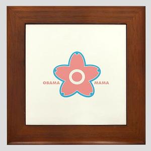 obama mama flower - pink_01 Framed Tile