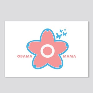 obama mama flower - pink_02 Postcards (Package of