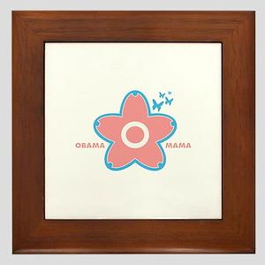 obama mama flower - pink_02 Framed Tile