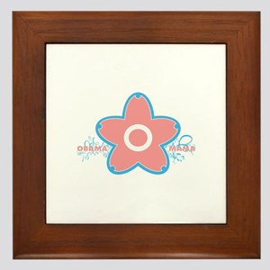 obama mama flower - pink_03 Framed Tile