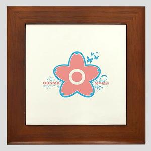 obama mama flower - pink_04 Framed Tile