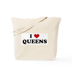 I Love QUEENS Tote Bag