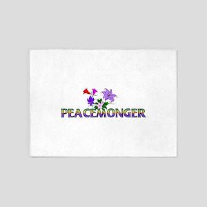 Rainbow Peacemonger 5'x7'Area Rug