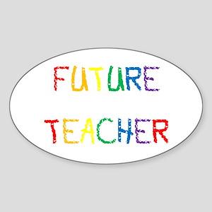 Future Teacher Oval Sticker