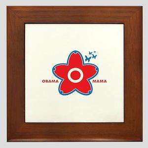 obama mama flower - red_02 Framed Tile