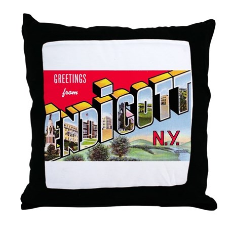 Endicott New York Greetings Throw Pillow