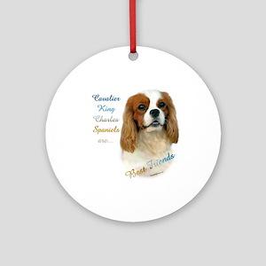 Cavalier Best Friend1 Ornament (Round)