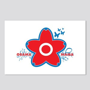 obama mama flower - red_04 Postcards (Package of 8