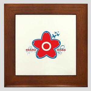 obama mama flower - red_04 Framed Tile