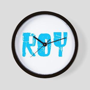 Roy Faded (Blue) Wall Clock