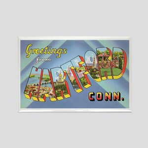 Hartford Connecticut Greetings Rectangle Magnet