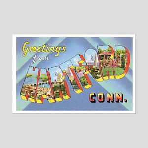 Hartford Connecticut Greetings Mini Poster Print