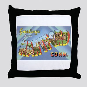 Hartford Connecticut Greetings Throw Pillow