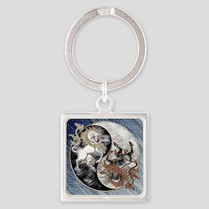 Harvest Moons Unicorns Yin Yang Keychains
