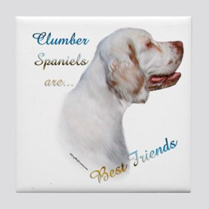Clumber Best Friend 1 Tile Coaster