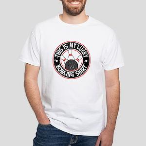 Lucky Bowling Shirt White T-Shirt