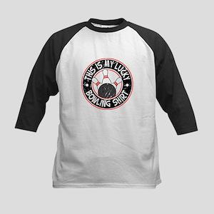 Lucky Bowling Shirt Kids Baseball Jersey