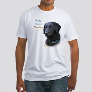 Curly-Coat Best Friend 1 Fitted T-Shirt