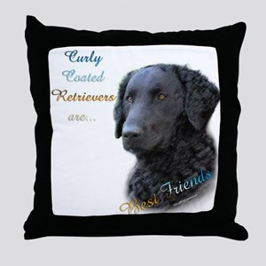 Curly-Coat Best Friend 1 Throw Pillow