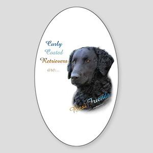 Curly-Coat Best Friend 1 Oval Sticker