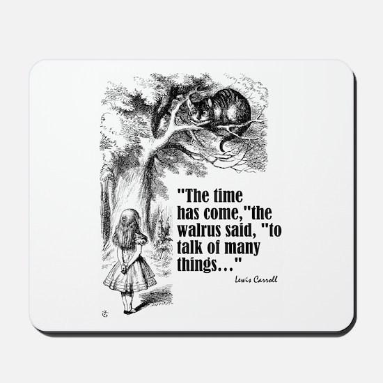 "Caroll ""Time Has Come"" Mousepad"