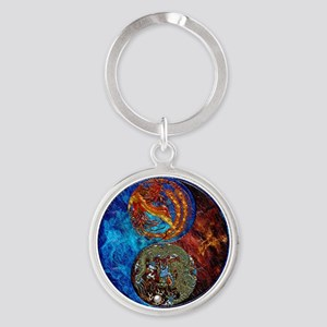 Harvest Moons Firebird Dragon Keychains