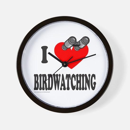 I HEART BIRDWATCHING Wall Clock