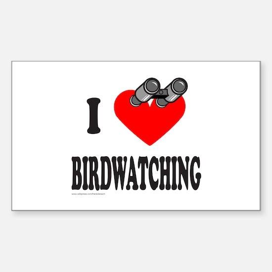 I HEART BIRDWATCHING Rectangle Decal