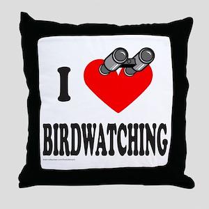 I HEART BIRDWATCHING Throw Pillow