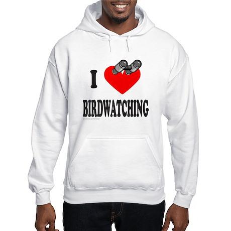 I HEART BIRDWATCHING Hooded Sweatshirt