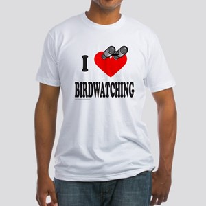 I HEART BIRDWATCHING Fitted T-Shirt